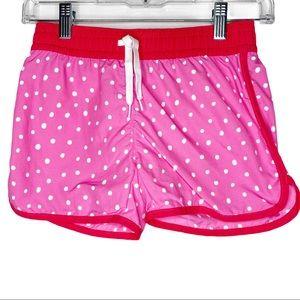 Kids Girl's Garnet Hill Pink Polka Dot Shorts 10